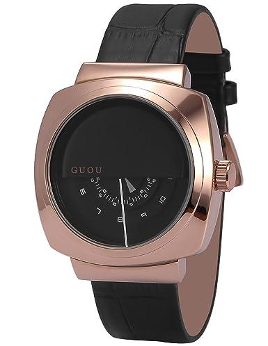 AMPM24 WK1243 Reloj Cuarzo Señorita Cuadro de Cuero Negro: Amazon.es: Relojes