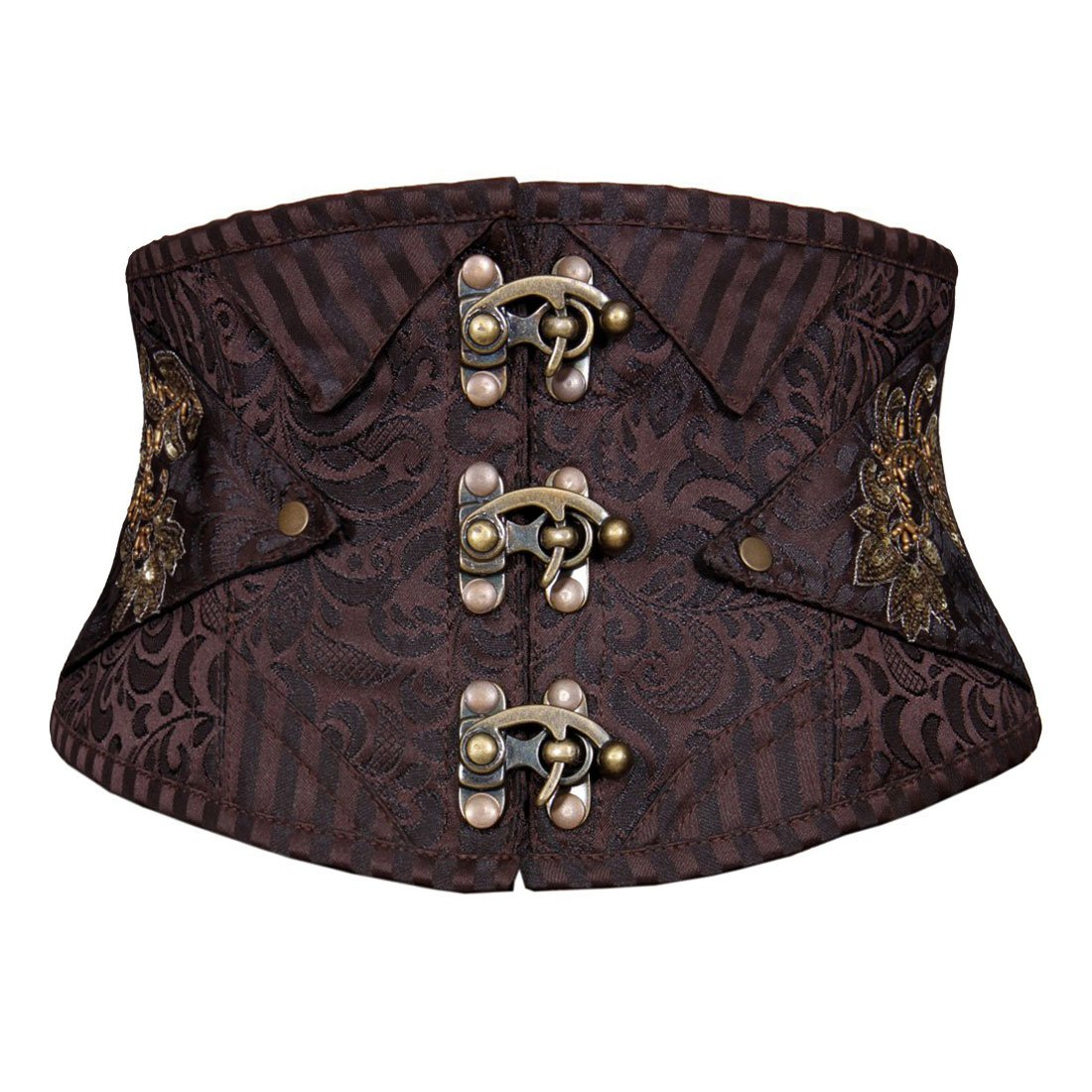 Ignacio Steampunk Corset Belt Coffee Black Easto Garments