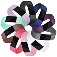 Mornex Bracelet Compatible Fitbit Charge 2, Bande en TPU Silicone Argente/Rose Or Boucle Souple Sangle de Remplacement Reglables Sport Accessorie, Grande Petit