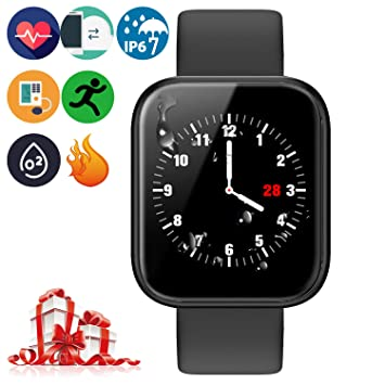 Brazalete Táctil Inteligente de Color de Alta definición con Monitor de frecuencia cardíaca IP67 Impermeable y Resistente al Polvo Reloj Deportivo de ...