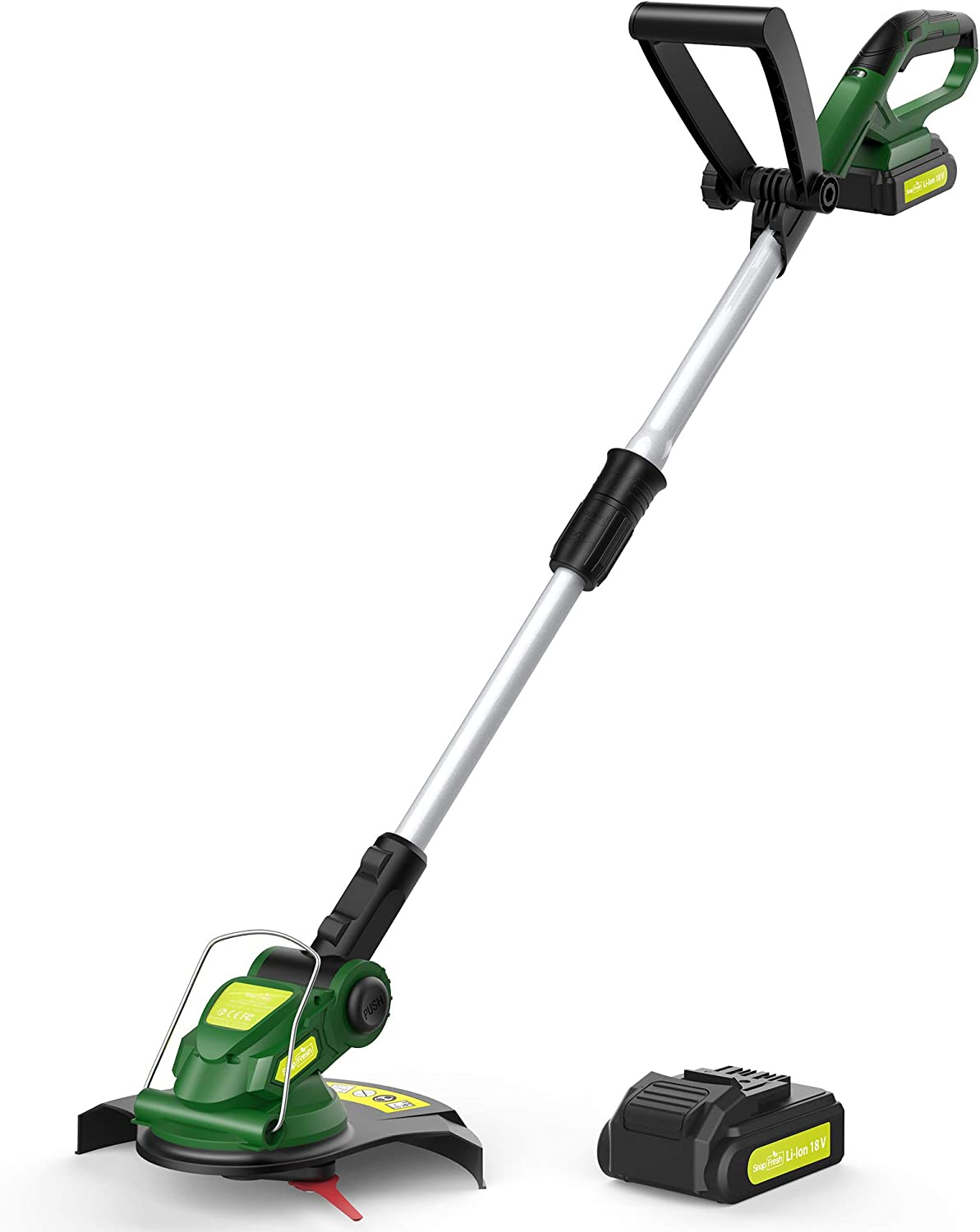 Cordless String Trimmer - Weed Trimmer/Eater Battery Powered, 18V Grass Trimmer with Battery & Charger, Electric Lawn Trimmer for Weed-Wacking, Ideal for Weed-Eating (3.0Ah Battery&Charger Included)