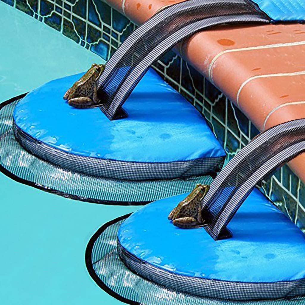 Swimming Pool Inflatable Bladder Animal Rescue Escape Ramp for Frogs//Duck//Turtle//Mice//Chipmunk Zyooh Frog Log Animal Saving Escape Ramp 2 Pcs