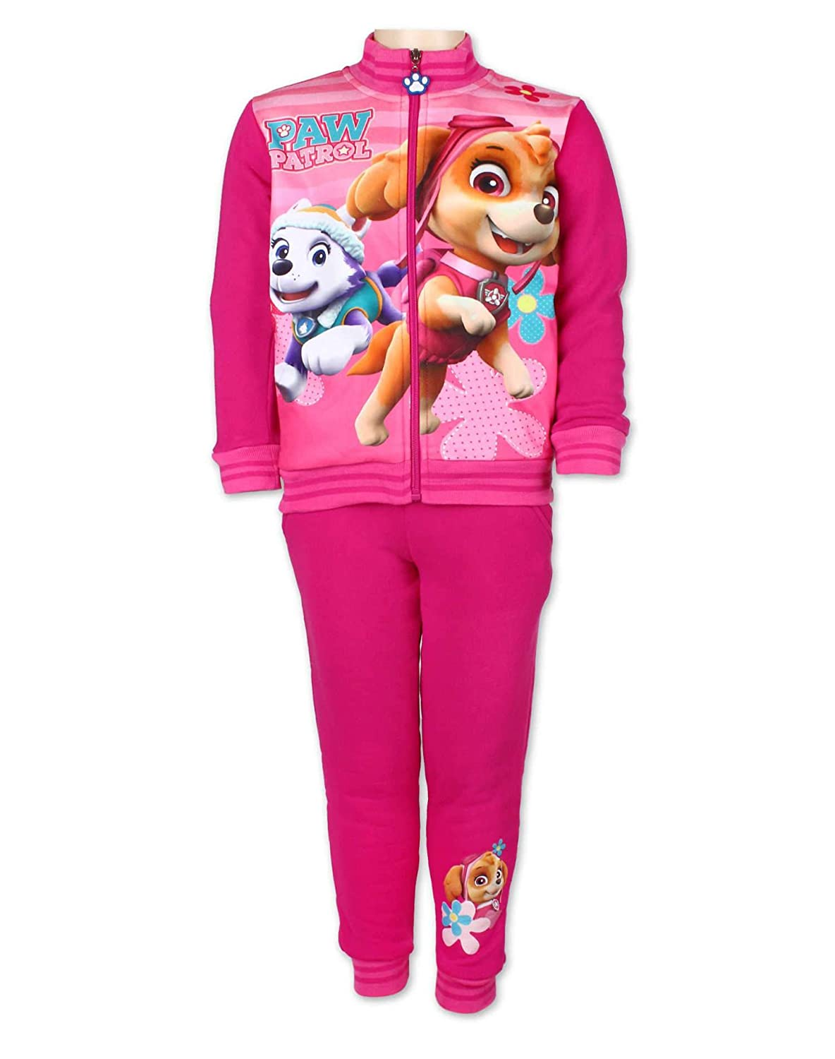 Paw Patrol Girls Official Licenced Printed Fleece Lined Tracksuit Trackpant Age 2 to 6 Years