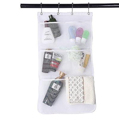 Hook 6 Pocket Bathroom Shower Caddy Toy Hanging Bath Storage Bag Mesh