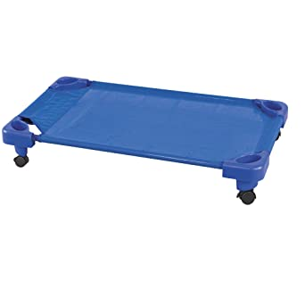sports shoes 94040 f362e ECR4Kids Toddler Naptime Cot with Wheels, Stackable Daycare Sleeping Cot  for Kids, 40