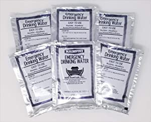LaunchPro Emergency Water Pack 3 Day Survival Rations (6 x 4.2 oz Pouches) USCG Approved 5 -Year Shelf Life
