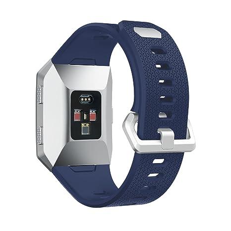 Bracelet Fitbit Ionic, MroTech Sport Bande en Silicone Souple Bracelet de montre de rechange Accessoires