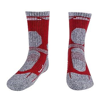 Tbest Calcetines Deportivos cómodo Hombre Mujer Unisex Calcetín Grueso Calcetines de Senderismo Thicked Keep Warm Transpirable