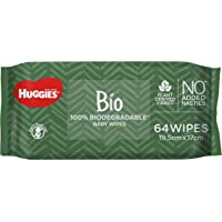 HUGGIES Biodegradeable Baby Wipes, 256 Wipes (4 x 64 packs)