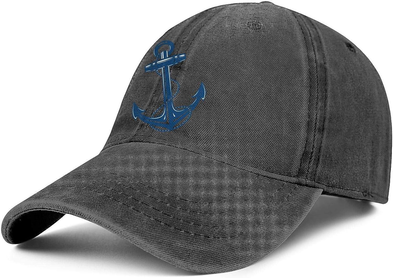Trucker Hat for Women//Men Black Anchor Cross Adjustable Fashion Fishing Hats