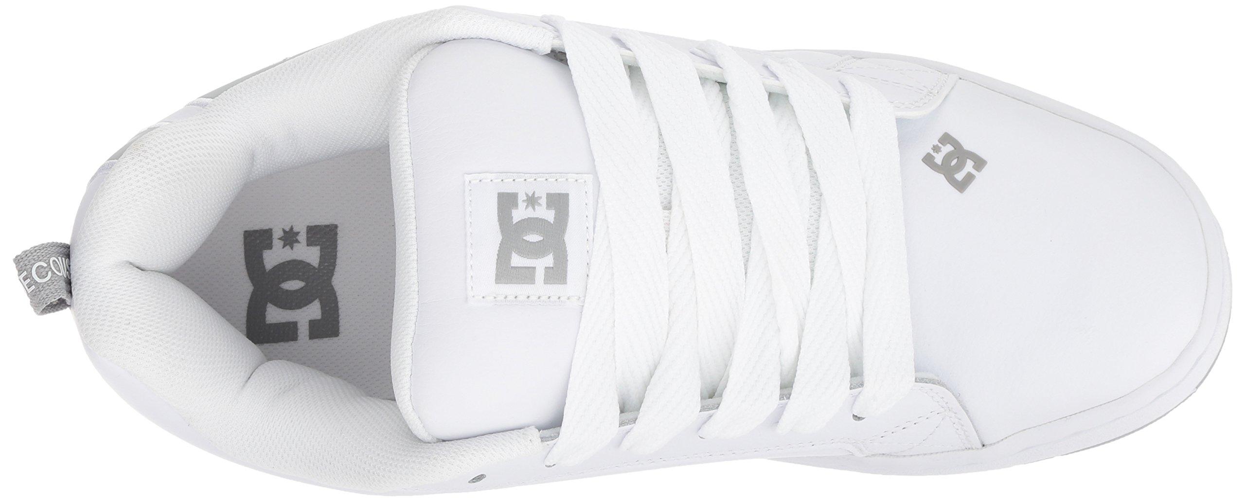 DC Men's Court Graffik SE Skate Shoe White Grey, 15 Medium US by DC (Image #7)