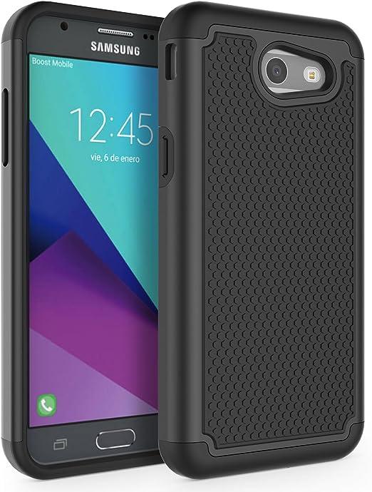 Cactus PHEZEN Galaxy J3 Emerge Case,Galaxy J3 Prime// J3 2017// J3 Eclipse//J3 Mission//J3 Luna Pro//Express Prime 2//Amp Prime 2 Case,Clear with Design Soft TPU Case Silicone Bumper Case