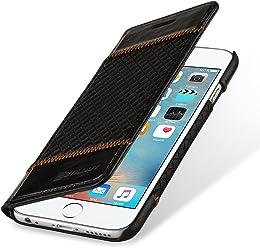 StilGut Talis, Housse Portefeuille en Cuir pour iPhone 6 Plus & iPhone 6s Plus, Noir Chester
