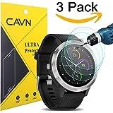 CAVN 3 Pcs Garmin Vivoactive 3 Protecteur D'écran en Verre Trempé Imperméable et Protection Complète Écran Protecteur pour Garmin Vivoactive 3 Ultra Clear Scratch Résistant, Anti-Bulle
