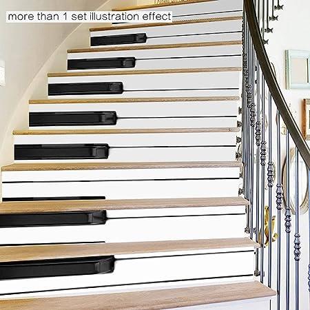 dream loom self stick staircase sticker creative books piano black
