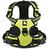 fiE FIT INTO EVERYWAY Range Of Front Side No Pull Dog Harness Outdoor Adventure 3M Reflective Pet Vest with Handle Adjustable Protective Nylon Walking Pet Harness Green S