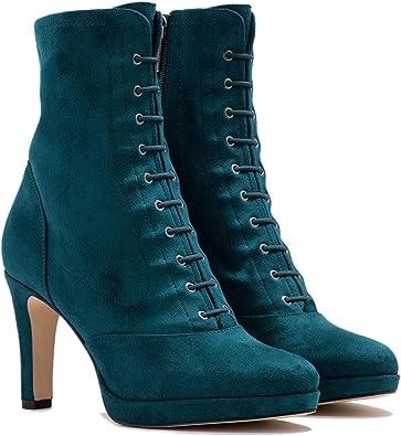 FOWT High Heel Platform Ankle Boots