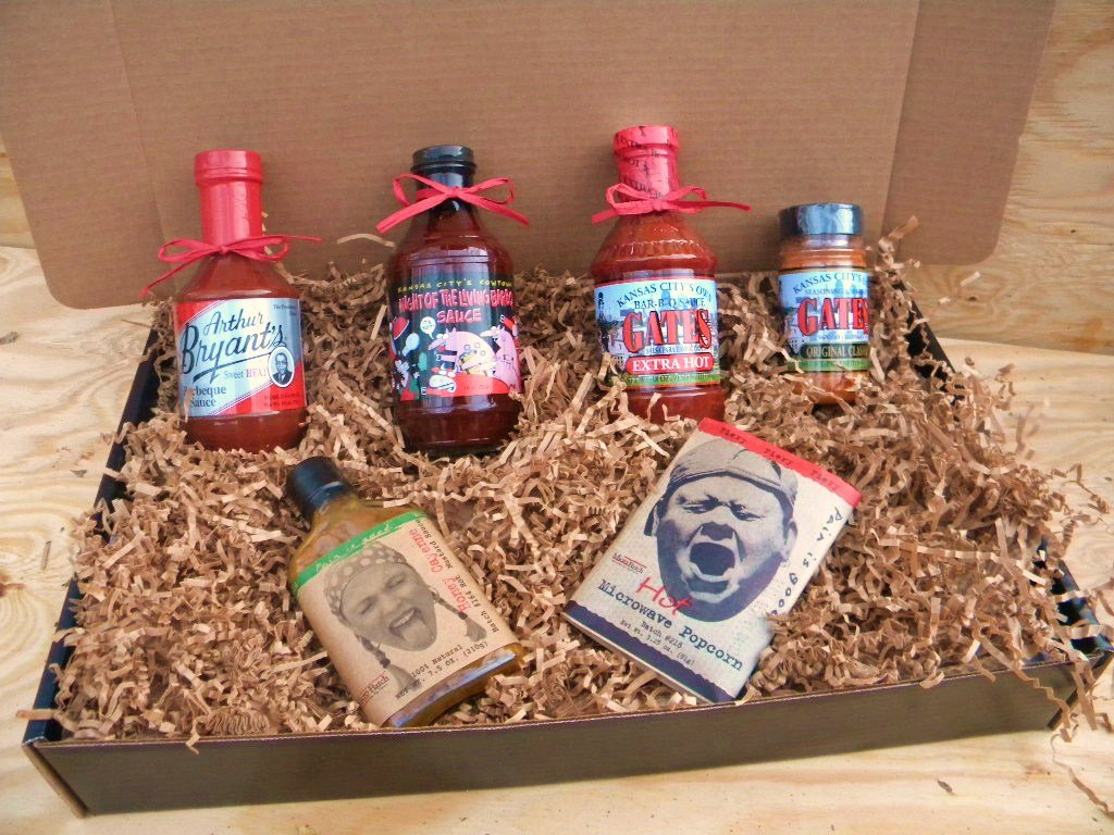 B006AO9GRS Kansas City Barbecue Sauce HOT & SPICY KC Combo Pack, Deluxe Gourmet Box Set 7158jfyRRlL._SL1024_