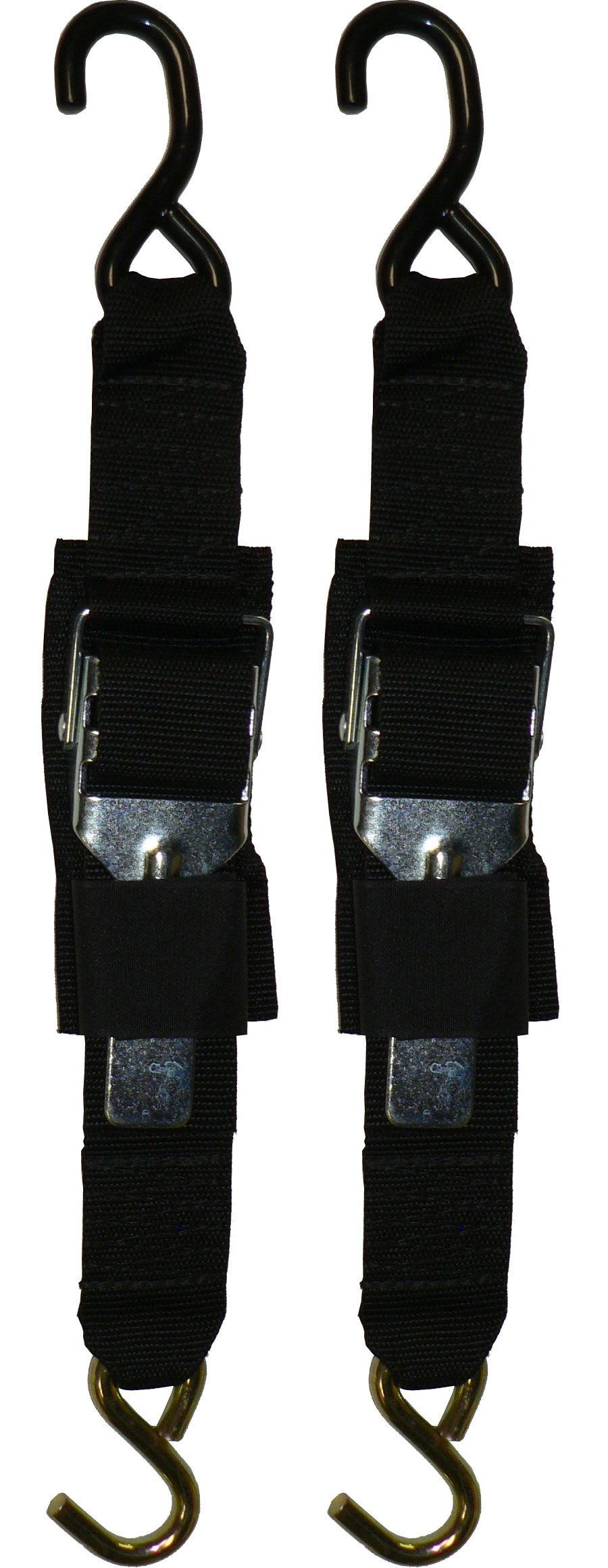 Rod Saver Paddle Buckle 2 inch Trailer Tie-Downs (2 Feet), Pair
