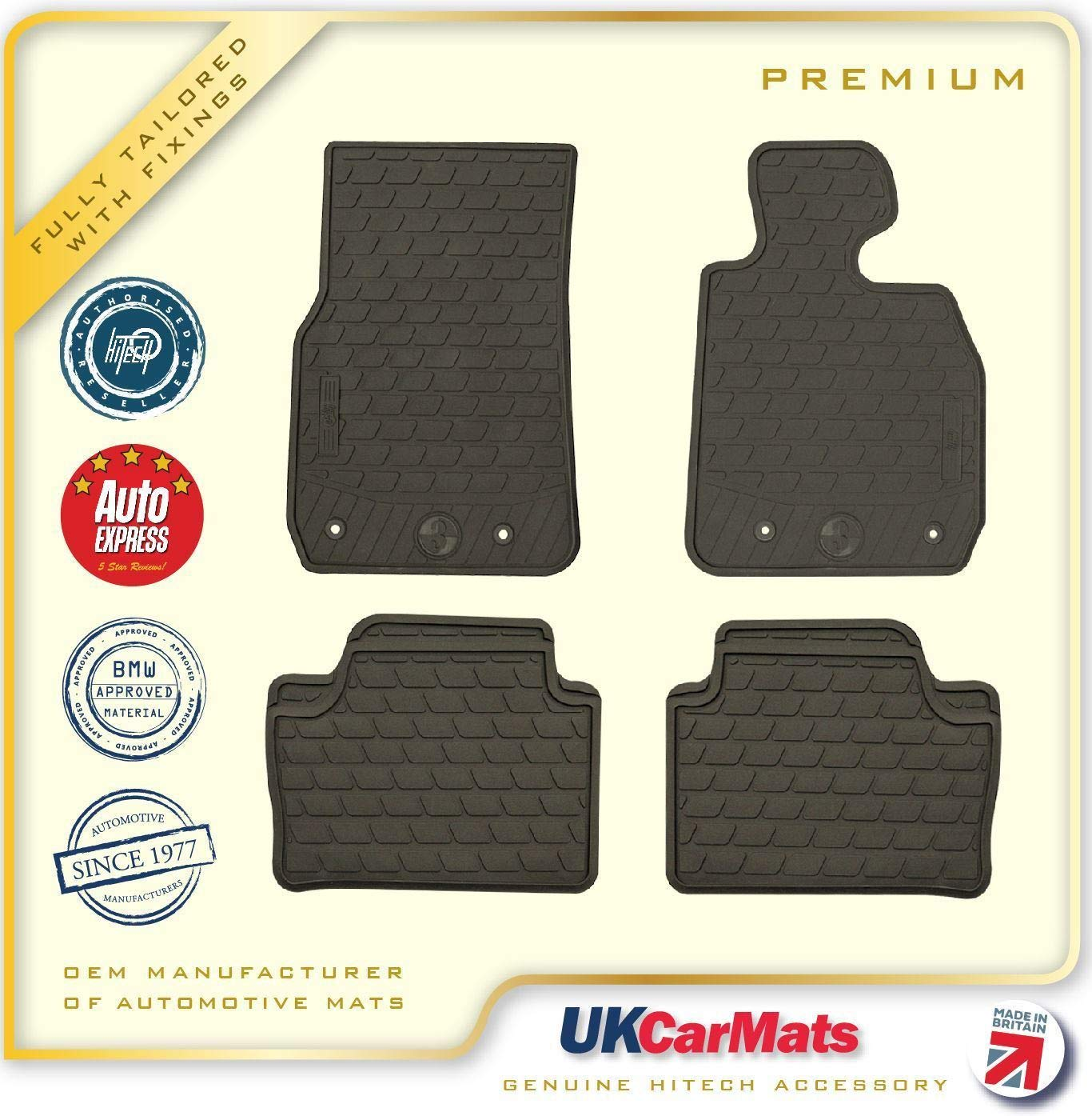 Genuine Hitech Fully Tailored Premium Rubber Mats Hitech OEM
