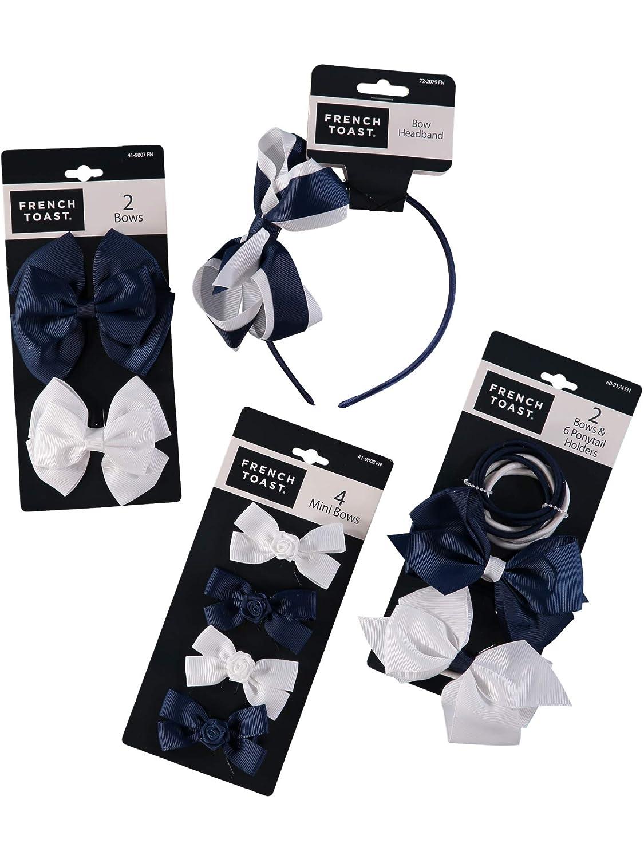 One Size 4-pack French Toast Kids School Uniform Headbands Navy Blue /& White