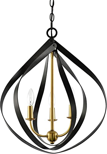 Kira Home Elizabeth 22″ 3-Light Modern Pendant Chandelier Light
