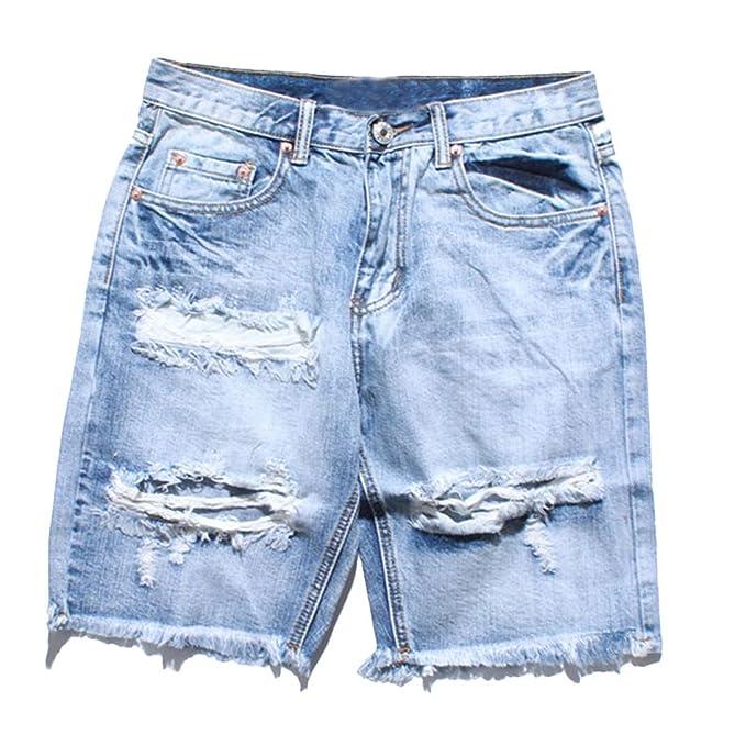 vendita calda online 6748c 7497a Profitd Uomo Jeans Pantaloncini Pantaloncini corti in denim ...