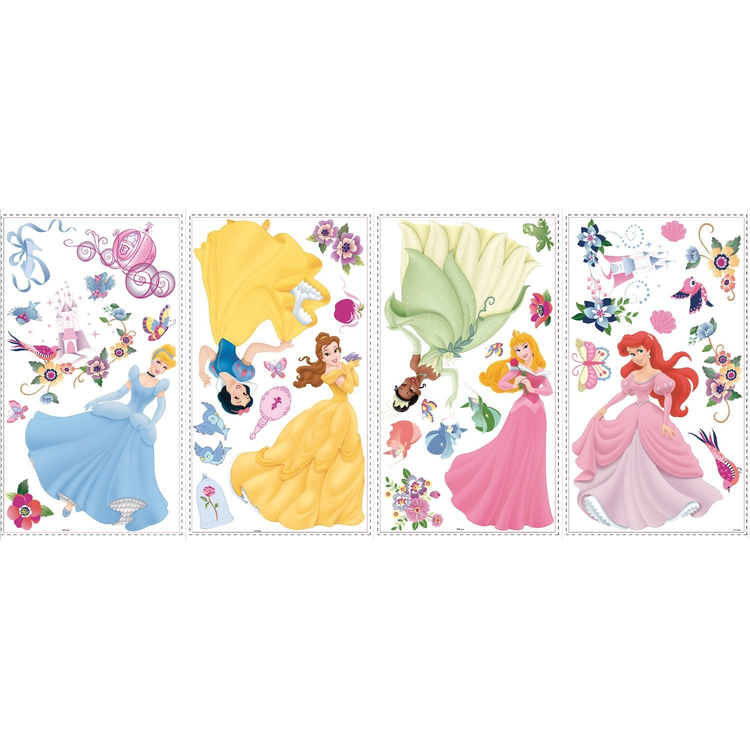 RoomMates RMK1470SCS Disney Princess Peel and Stick Wall Decals with Gems