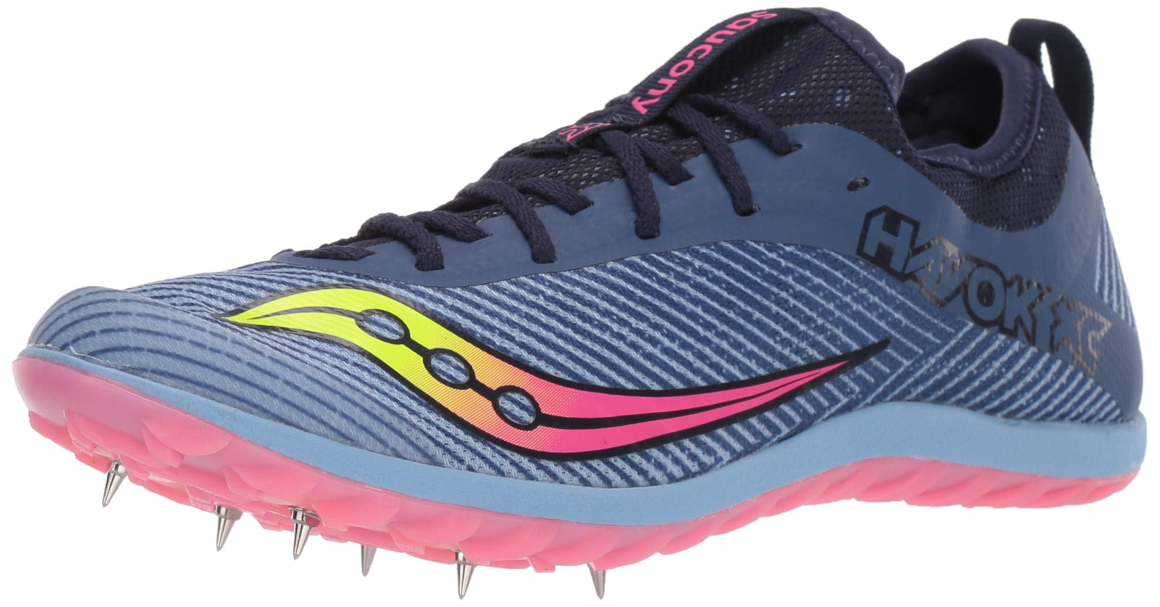 Saucony Women's Havok XC2 Track and Field Shoe, Blue/Citron/Vizi Pink, 6.5 Medium US by Saucony
