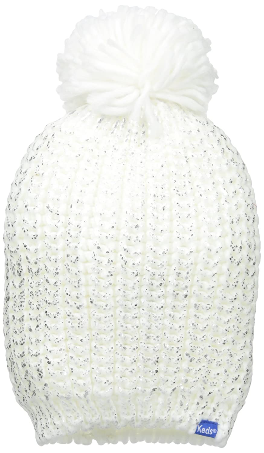 Keds Women s Metallic Coated Knit Pom Beanie 077abad45ea1