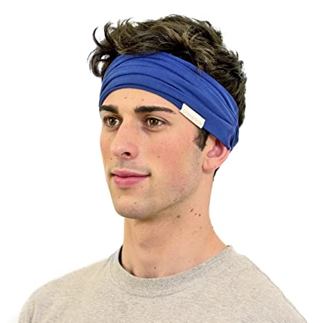 Amazon.com   KOOSHOO ROYAL BLUE WIDE ORGANIC COTTON HEADBAND ... fbb355b00ed