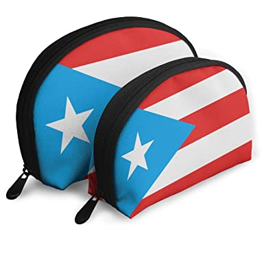 e3b0534aee8f Amazon.com: Puerto Rico Flag Makeup Bags 2 Pcs Travel Cosmetic ...