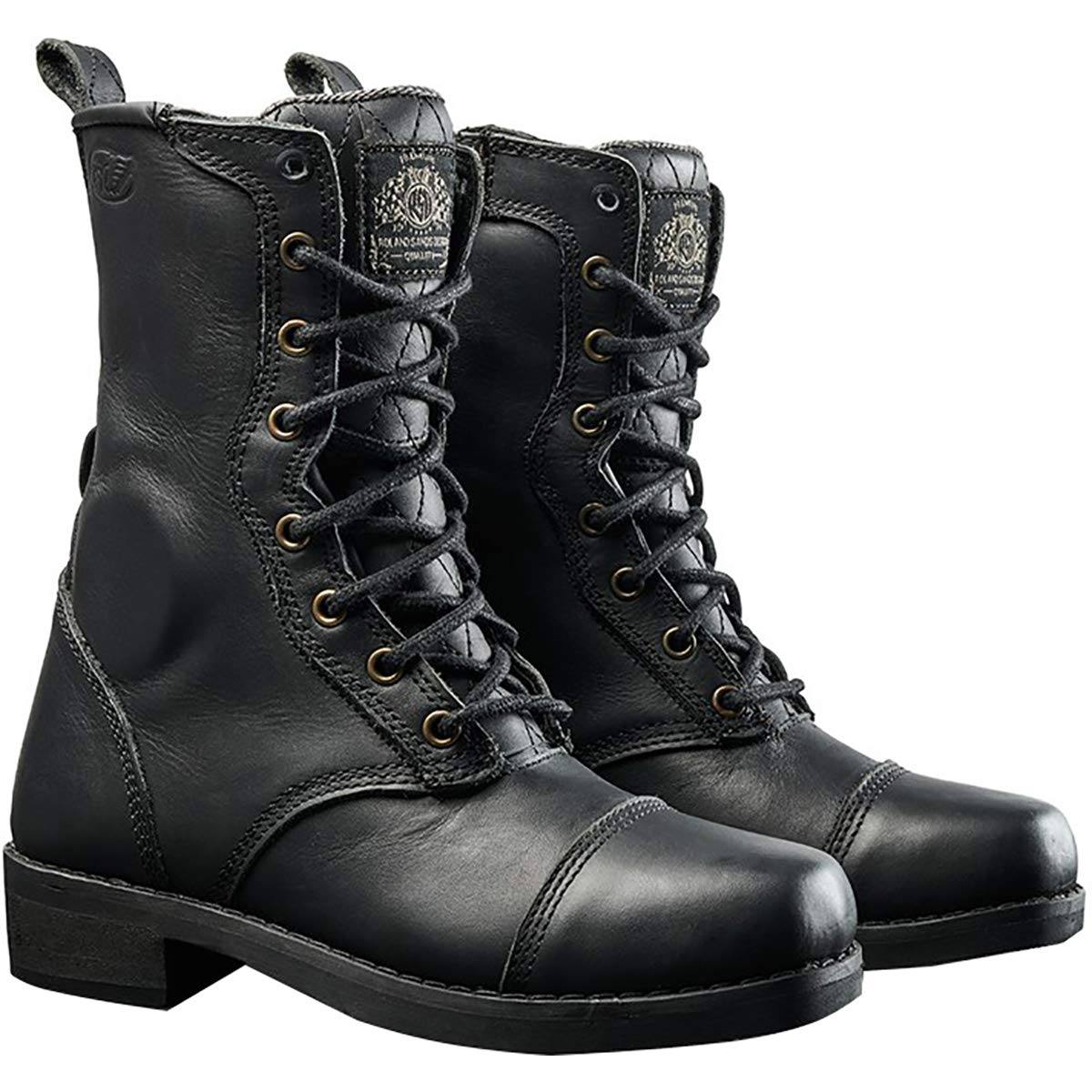 8 Tobacco Roland Sands Design Cajon Womens Street Motorcycle Boots