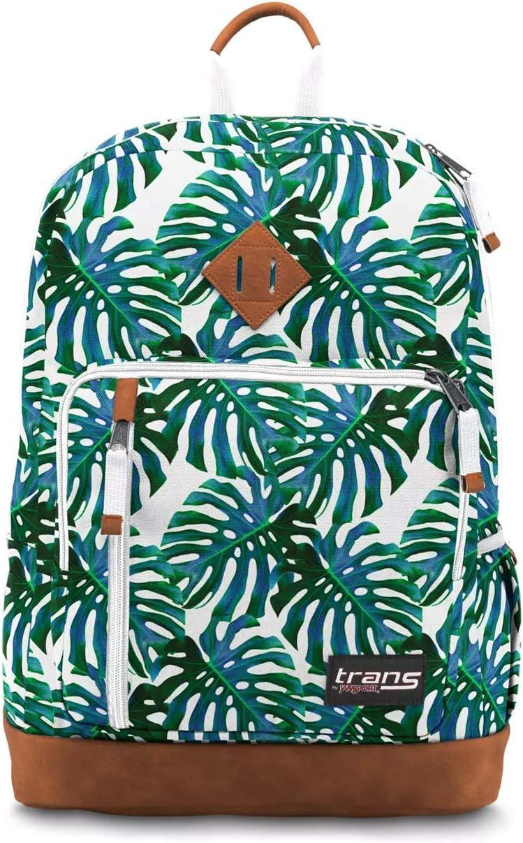 "Trans by JanSport 18"" Dakoda Backpack, Monstera Falls School Travel Daypack"