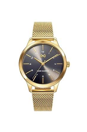 Mark Maddox Reloj Analógico para Mujer de Cuarzo con Correa en Acero Inoxidable MM7106-57: Amazon.es: Relojes