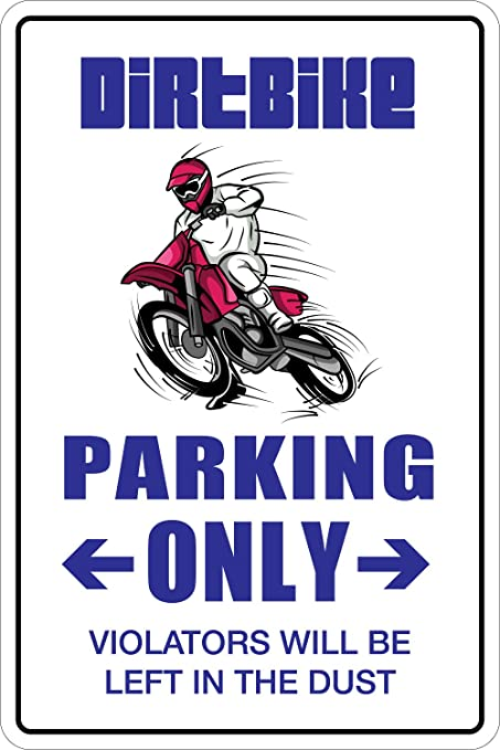 0c6cebe2aa Amazon.com  StickerPirate Dirt Bike Parking Only Dirtbike 8
