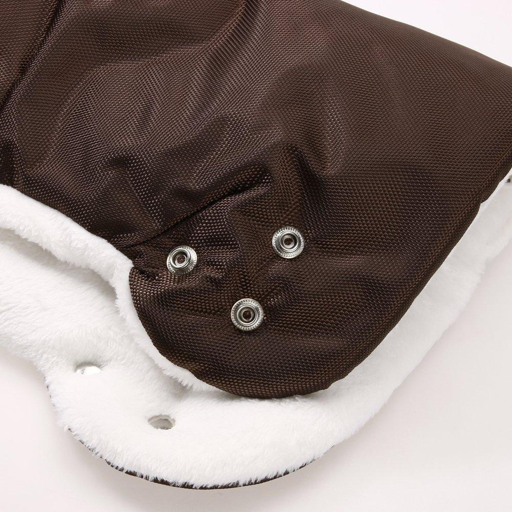Diamondo Warm Baby Stroller Winter Waterproof Pram Hand Muff Buggy Glove (Black)