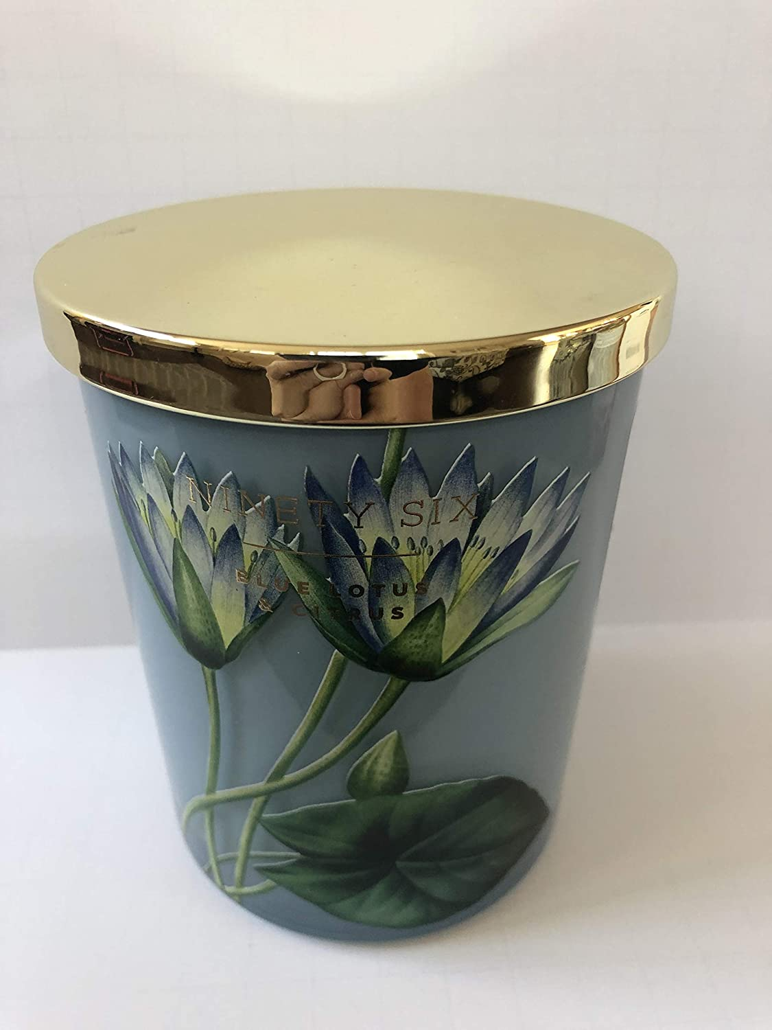 Ninety Six Blue Lotus and Citrus Double Wick Candle with Lid 14.6 Oz