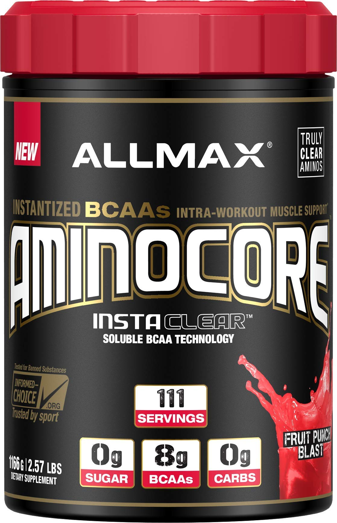 ALLMAX Nutrition Aminocore BCAAs, Fruit Punch, 1166g