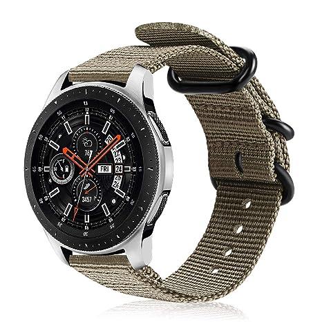 Fintie Correa para Samsung Galaxy Watch 46mm / Gear S3 Classic/Gear S3 Frontier/Huawei Watch GT - 22mm Pulsera de Repuesto de Nylon Tejido Banda ...