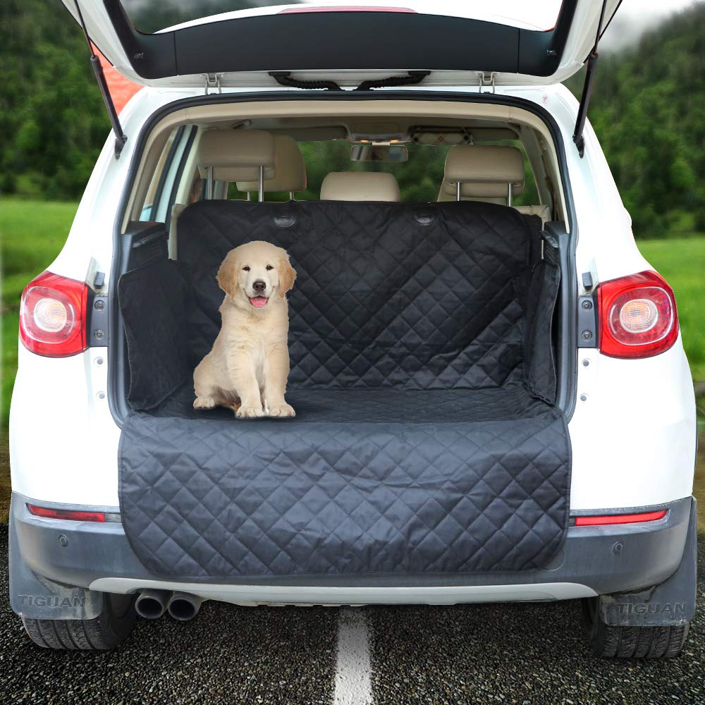 Arkmiido Cargo Liner for SUVs and Cars, Waterproof Dog Cargo Cover Mat with Side Walls Protector for SUV, Washable Durable Pet Cargo Liner – Universal Fit