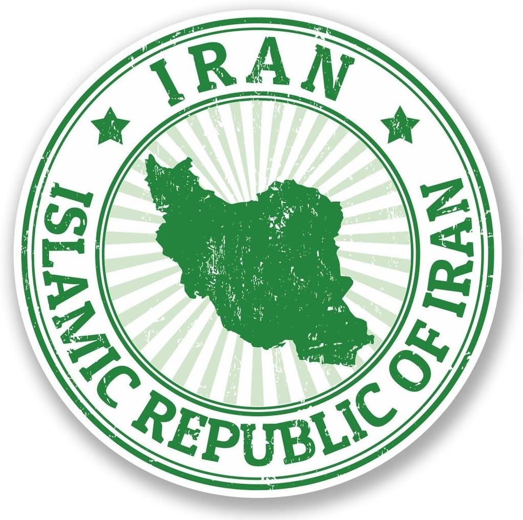 2 x 30cm/300mm Iran Vinyl SELF ADHESIVE STICKER Decal Laptop Travel Luggage Car iPad Sign Fun #5482