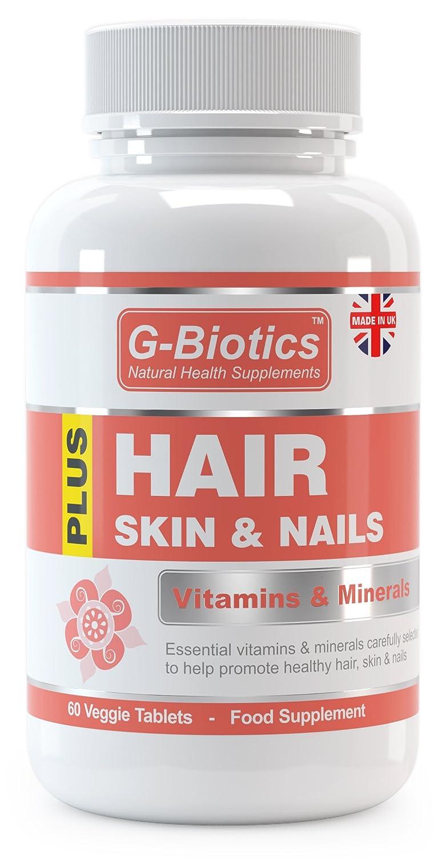 Vitaminas para el Cabello, Piel y Uñas de G-Biotics ~ Suplemento EXTRA de ALTO: Amazon.es: Salud y cuidado personal