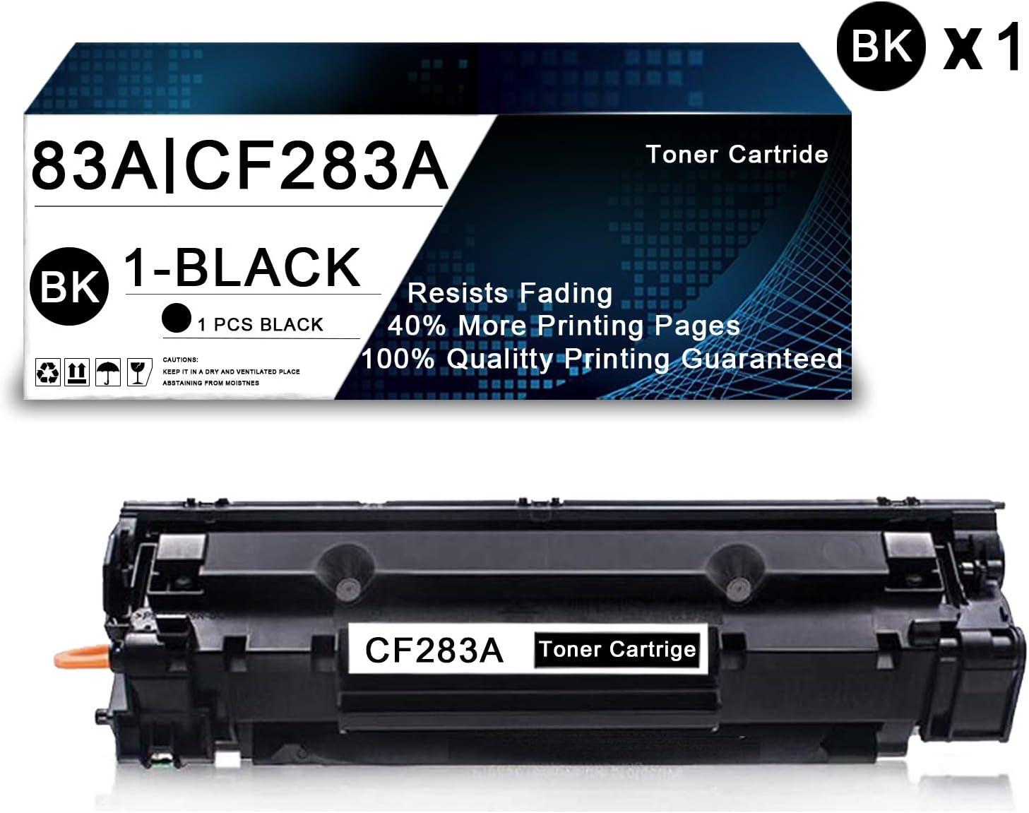 1 Pack Black 83A | CF283A Compatible Toner Cartridge Replacement for HP Laserjet Pro M201n M201dw MFP M225dn MFP M126nw MFP M125r MFP M127fn MFP M128fw Printers Toner Cartridge.