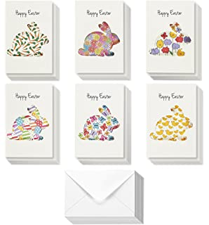 Amazon 36 pack happy easter blank on the inside note cards for 36 pack easter greeting cards happy easter note cards colorful cut out easter m4hsunfo