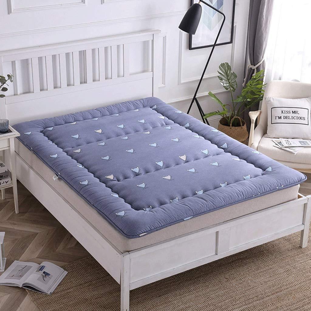 H 90x200cm Cotton Tatami Mattress Foldable Bedroom Living Room Sleeping Pad Deodorant Antibacterial Mat Home Yoga Floor Mat G (color   B, Size   90x200cm)