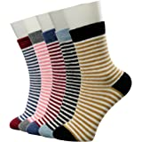 La Dearchuu Winter Socks Warm Wool Socks for Women Crew Cushion Socks Thick Thermal Socks, Mixed Color 5 Pairs