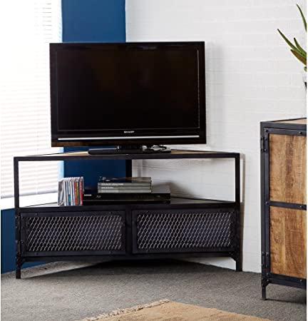 Oak Furniture House BRAMLEY Industrial Muebles Mueble de Esquina para televisor: Amazon.es: Hogar