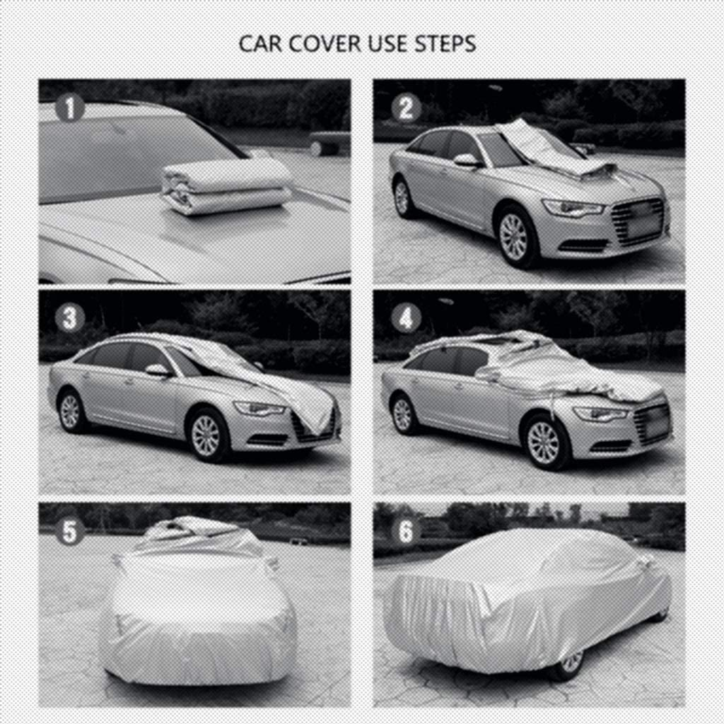 Autoabdeckung Kompatibel mit Mercedes-Benz CLA Shooting Brake//Auto-Schutz-Abdeckung//Car Cover//Voll Aussehen//Hagel Car Cover//Auto-Farben-Schutz Color : Black, Size : Plus Cotton