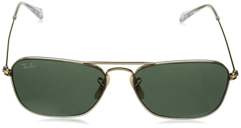 Rayban 0RB3603 001/71 56, Gafas de Sol Unisex, Gold/Green: Amazon.es: Ropa y accesorios